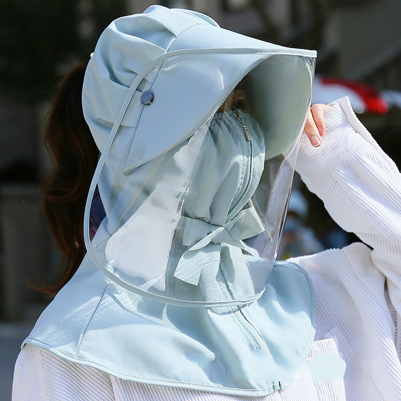 Outdoor Protection Hat Product Anti-saliva Waterpoof Windproof Anti Dust Hat Face Shield Cover Mask Bucket Hats Cap Removable
