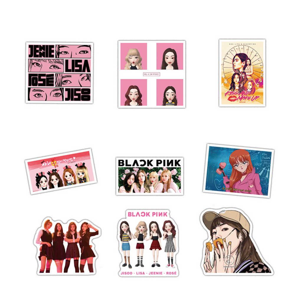 54 قطعة/المجموعة 54 blackpink الكورية مزيج kpop ملصقات PVC ملصقات ملصق مضاد للمياه سيارة ملصقا الكتابة على الجدران vsco ملصقات