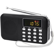 L218 Portable Digital Radio Receiver Stereo Radio MIni Retro Speaker with LED Display Flashlight Radio Support FM AM Family Gift free shipping tecsun a9 fm stereo radio reception led digital display mp3 player computer speaker radio receiver portable radio