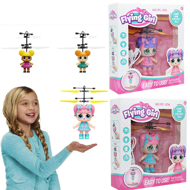 Infrared Induction Girl Magical Princess Girl Cute Dolls Toy RC Helicopter Flying Quadcopter Drone Dolls Kids Toys Gifts