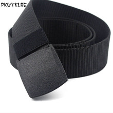 PKWYKLRE Mens Tactical Belt New Casual Nylon Canvas Military High Quality Outdoor 6 Colors Optional