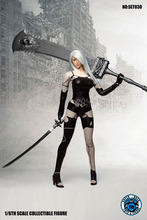 SUPER DUCK SET030 1/6 Cosplay Custom NieR:2B/2A Automata Sexy Clothes Kit Clothes Suit Figure Model F 12 Action Figure v f stks wood 2b
