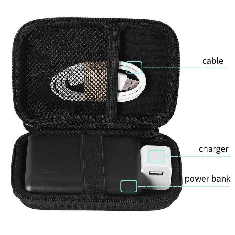 Bolsa de almacenamiento de estuche de cremallera dura Eva para auriculares Anker PowerCore 13000mAh