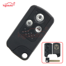 Kigoauto Smart Remote Key Shell Case Fob 3 Button Replacement for Honda Accord CRV Fit 2009 2010 2011 dwcx 2buttons remote flip folding key case shell fob fit for honda crv accord civic pilot fit 2007 2008 2009 2010 2011 2012 2013