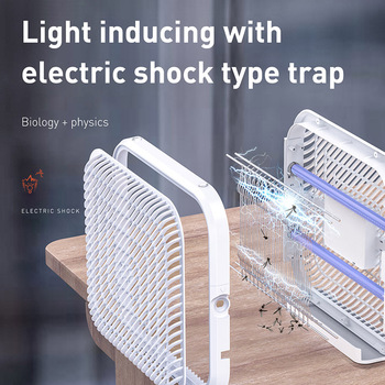 Baseus питаемые через USB порт UV светильник инсектицидная лампа светодиодный Электрический анти москитные муха насекомых Ловушка убийства све...