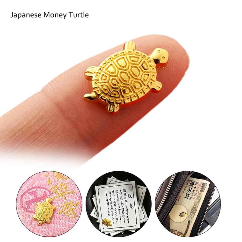 Presente de ano novo japonês dinheiro tartaruga pequena tartaruga dourada defensiva bênção fortuna mobiliário doméstico feng shui tartaruga dourada