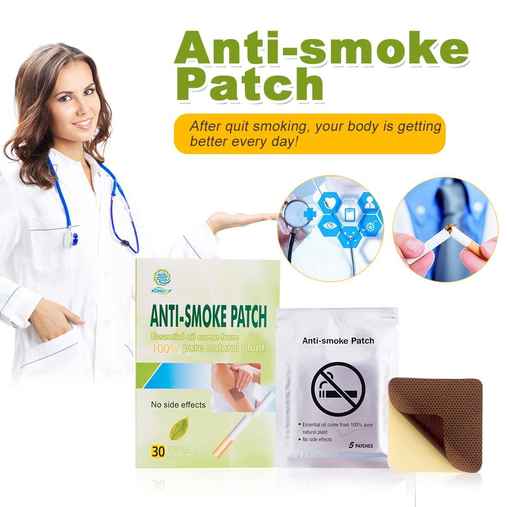 KONGDY Brand Anti Smoke Patch 30 Pieces/Box Smoking Cessation Pad 100% Natural Herbal Stop Smoke Patch Health Therapy