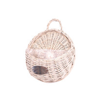 Home Garden Natural Wicker Flower Wall Hanging Pots Planter Rattan Vase Basket(China)