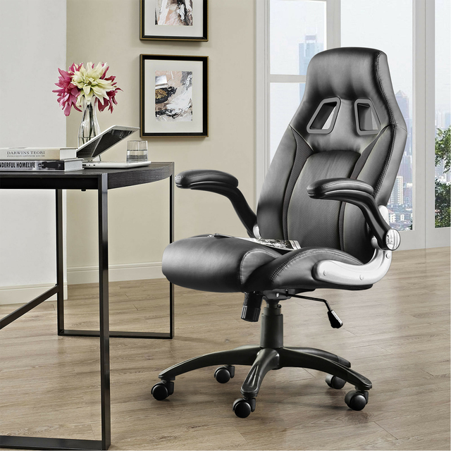 Furgle Office Chair Racing Chair Sports Seat Gaming chair with Footrest Artificial Leather Height-Adjustable Desk Chair 6