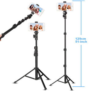 Image 2 - Cell Phone Selfie Stick Travel Tripod Stand for Mobile Phones iPhone iPAD HUAWEI Xiaomi Redmi Tablets wireless Bluetooth Portabl