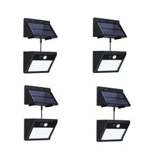 4 шт. в упаковке Разделение солярные наружные фонари Водонепроницаемый движения Сенсор настенный светильник 20 Led с автоматическим включением/Off для внутренний дворик патио сад
