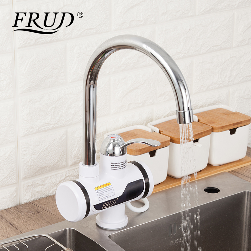 FRUD Electric Kitchen Water Heater Tap Instant Hot Water Faucet LED Digital Heating Faucet Tankless Instantaneous Water Heater
