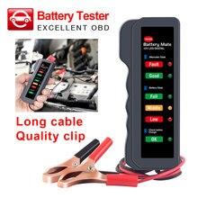 Автомобильный тестер батареи 12 В цифровой генератор BM310 зажим автоматический анализатор батареи 6 светодиодный индикатор автомобиля тестер батареи