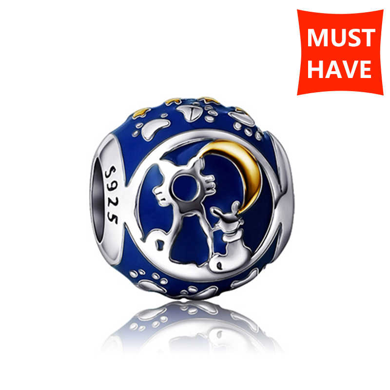 NEW arrival 925 sterling silver Fit Original Pandora Bracelet Antique color Enamel Charms Beads Jewelry Making for women Gifts