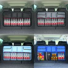 Universal Auto Car Organizer Trunk Rear Back Seat Storage Bag Mesh Net Pocket Storage Bags super big size 50cm x 25cm auto seat back storage mesh net bag car magic sticking holder pocket trunk organizer
