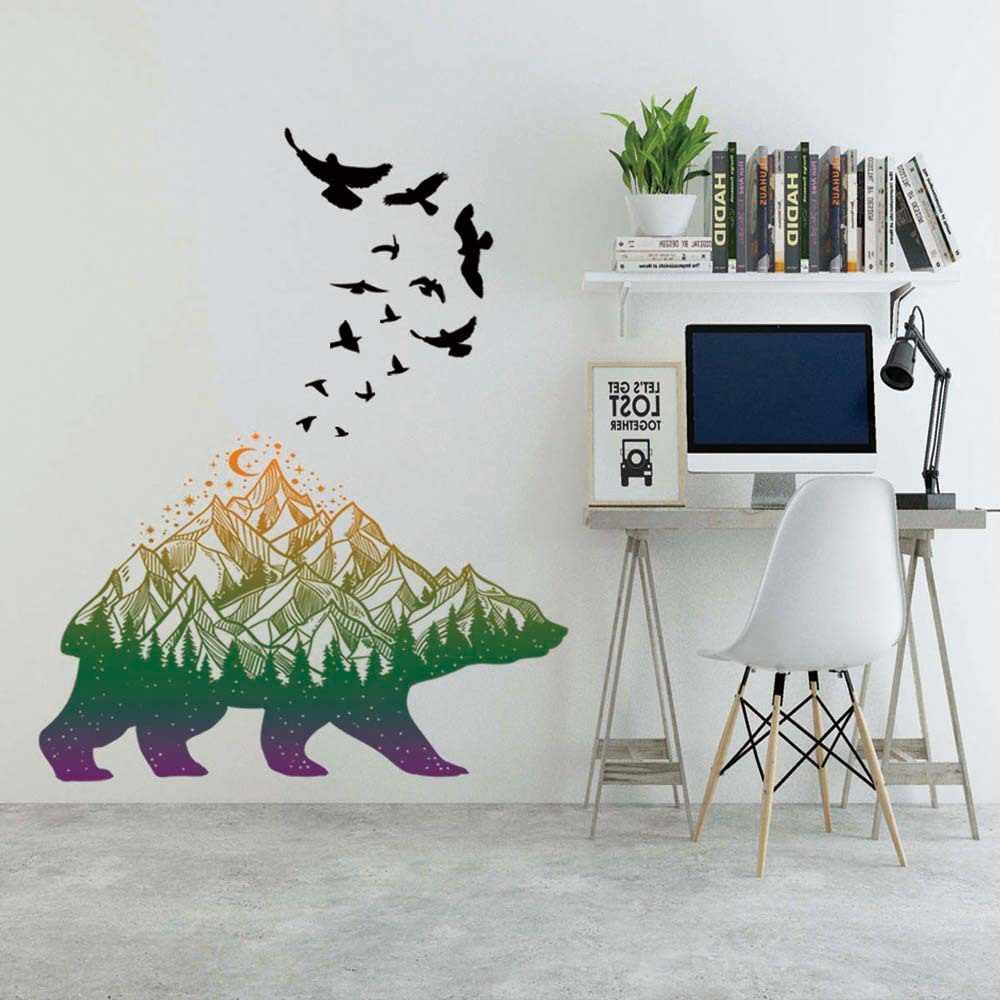 גדול גודל עץ תמונה מסגרת קיר מדבקה לסלון אמנות משפחת בית תפאורה מדבקות DIY עצמי דבק קיר טפט חדש