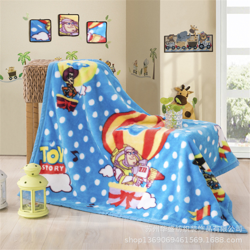 Buzz Lightyear Mickey Raschel Blanket