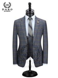 Pant Blazer Mens Suit Slim-Fit Wedding One-Button Fashion DARO Side-Vent-Jacket Terno