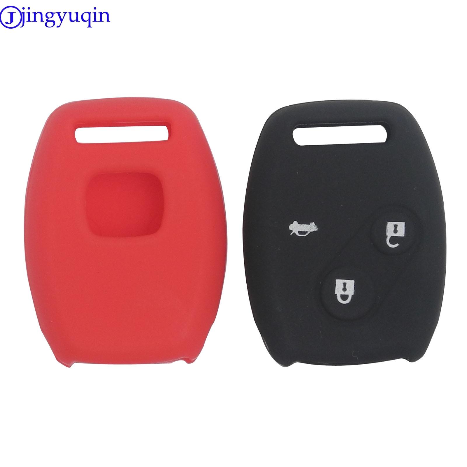 jingyuqin New Silicone Cover Case for HONDA 2003 2008 2009 Accord CR-V CRV Civic Pilot Key Case