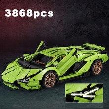 3868pcs Technicing Super Racing Sports Vehicle Building Blocks City Speed Racer Bricks Lamborghinii Racing Car Toys For Boys