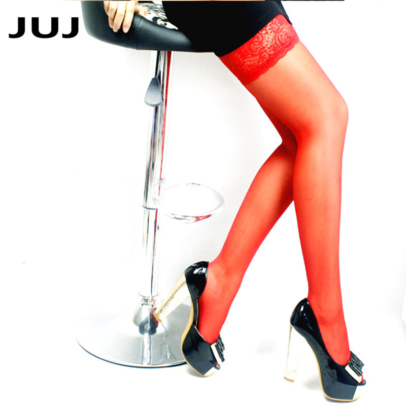 Thigh High Stocking Women Summer Over knee Socks Sexy girl Female Hosiery Nylon Lace Style Stay Up Stockings Plus Size