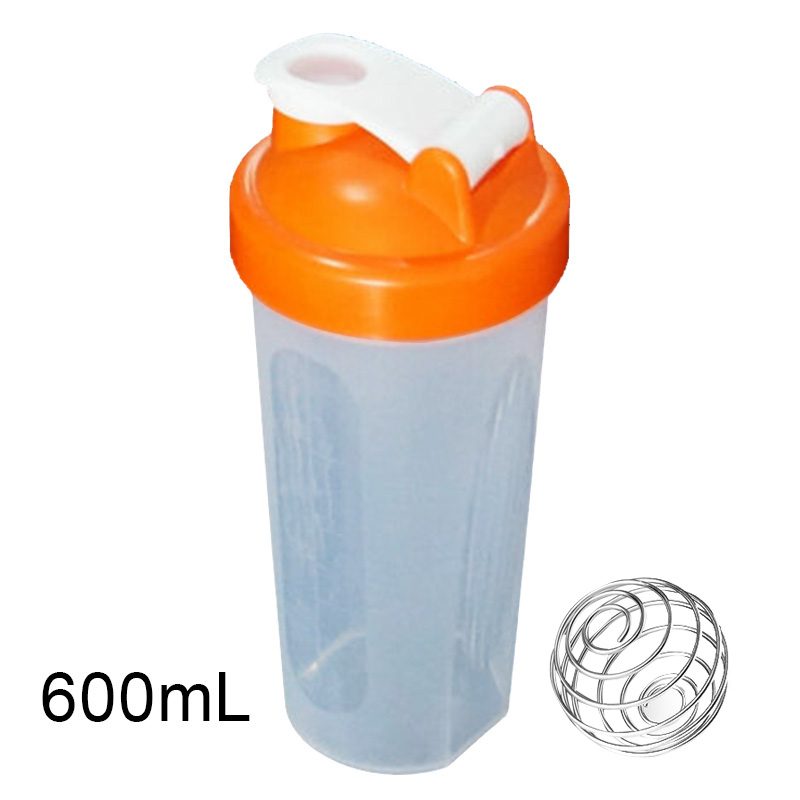 400/600ml Protein Powder Mixing Cup Sealed Leakproof Shake Bottle With Stirring Ball THJ99