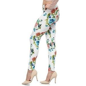 Image 3 - YGYEEG 뜨거운 고탄력 디자인 빈티지 낙서 레깅스 플로랄 무늬 프린트 레깅스 여성용 고품질 레깅스 판매 2020