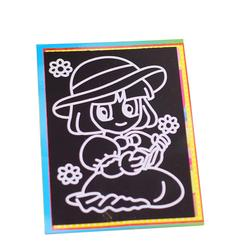 RCtown Children DIY Magic Scratch Art Painting Paper Educational Scraping Drawing Pictures Toys(Random pattern)