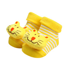Нескользящие тапочки с рисунком для новорожденных девочек и мальчиков; детские носки; носки для детей; calze antiscivolo; H5