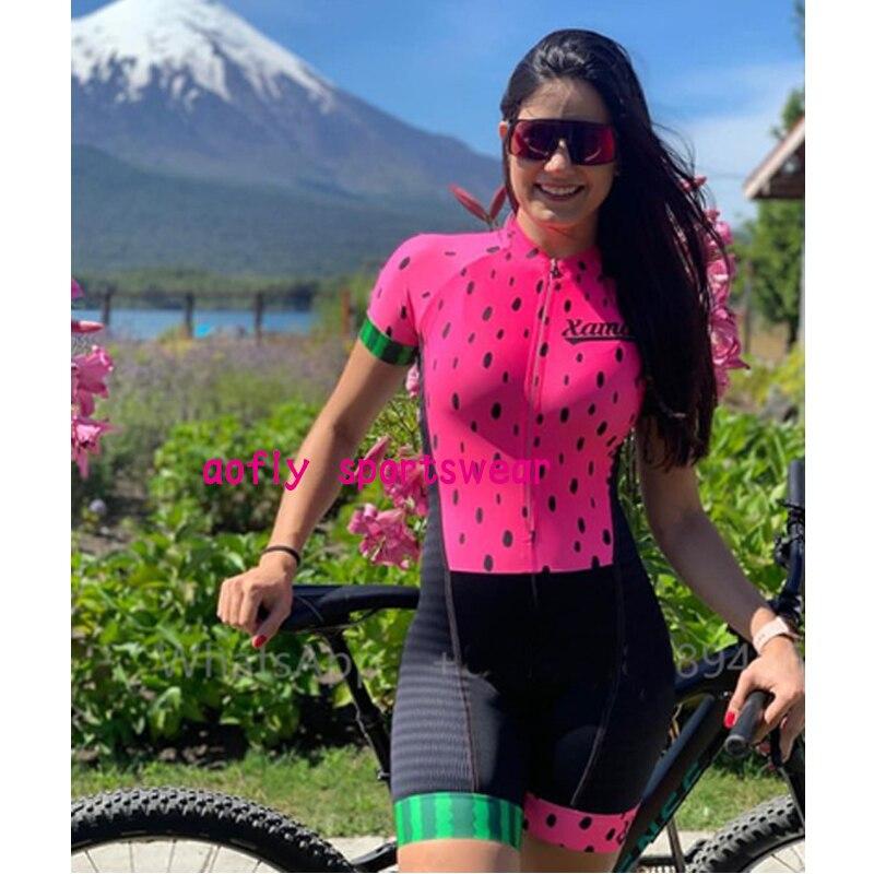 2021 xama pro feminino triathlon terno roupas ciclismo conjuntos de skinsuit macacão kits macaquinho ciclismo feminino gel maillot mujer roupas femininas com frete gratis  ciclismo feminino gel macacão triathlon 13
