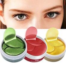 120 Teile/satz Kollagen Augen Maske Anti Falten Eye Patches Gel Maske für Gesicht Feuchtigkeits Gold/Algen Auge Maske Auge patches Pflege