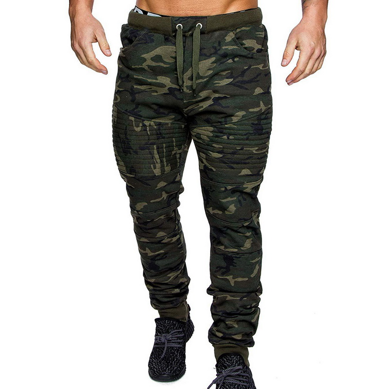 DIHOPE Camouflage Streetwear Pants Men Sports Leggings Fitness Harem Trousers Slim Fit Sweatpants Elastic Waist Joggers Pants