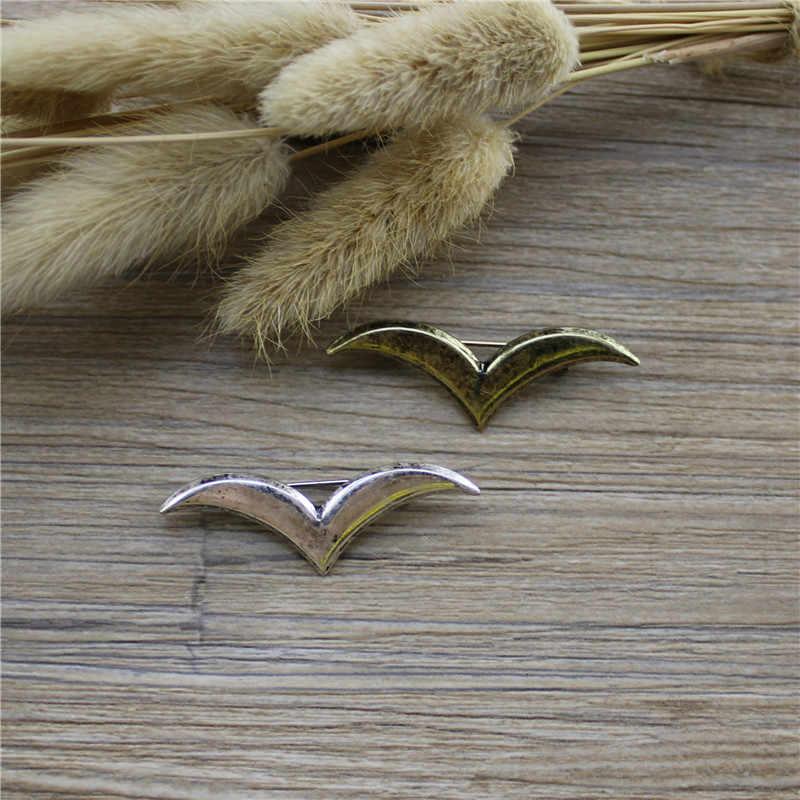 Baru Jepang dan Korea Gaya Retro Elegan Elektroplating Emas Kuno Perak Kuno Seagull Kepribadian Fashion Bros