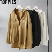 Toppiesผู้หญิงสีขาวสีดำเสื้อ 2020 ฤดูใบไม้ผลิผู้หญิงเกาหลีแฟชั่นแขนยาวBlusas Mujer