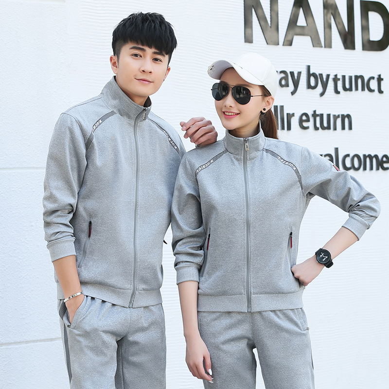 Men And Women Sports Set Spring And Autumn New Style Couples Casual Loose-Fit Two-Piece Hoodie Versatile Long Sleeve Trousers Jo