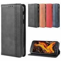 Für Samsung Galaxy Xcover 4s Fall Flip Leder Brieftasche Fall Auf Für Samsung SM-G398F G390F Mit Unsichtbare Magnet Halter abdeckung