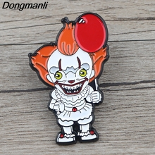 K1016 Ghost Clown It  Funny Clown Metal Enamel Pins and Brooches for Lapel Pin Backpack Bags Badge Collar jewelry printio funny clown