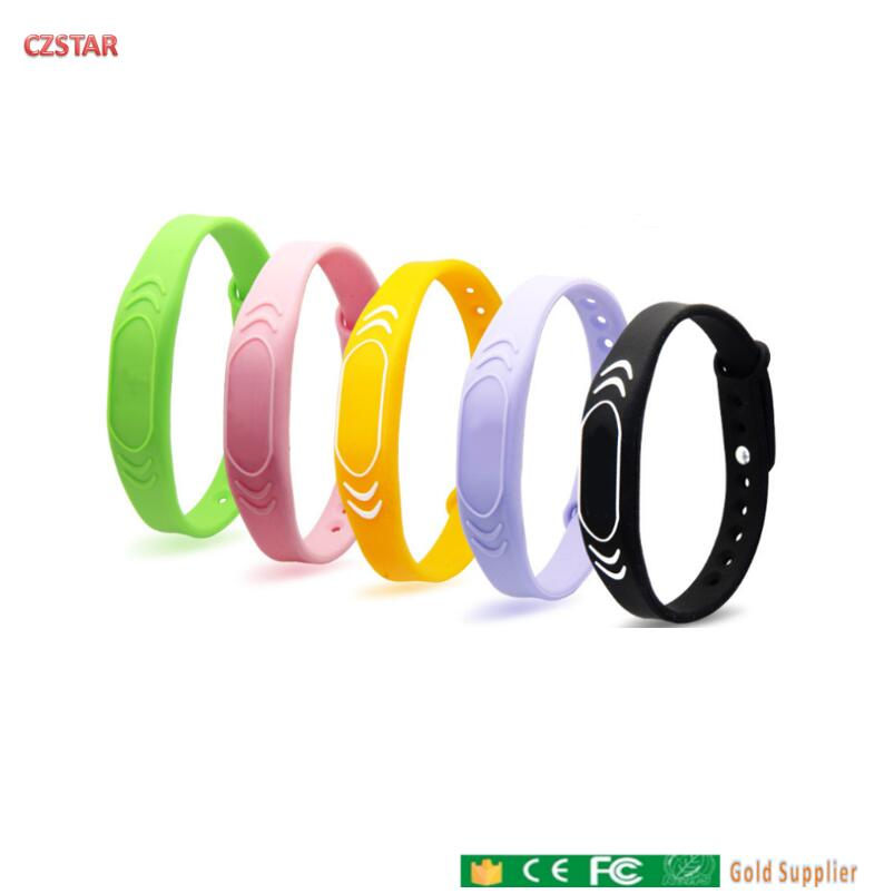 Colorful Wrist Bracelet 125khz ID Tags 13.56mhz Waterproof RFID Wristband Tag Sports Racing Timing School Attendance Triathlon
