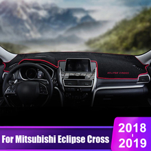 For Mitsubishi Eclipse Cross 2018 2019 Car Dashboard Cover Mats Avoid Light Pad Instrument Platform Desk Carpets Car Accessories car dashboard mats cover void light pad instrument platform carpet cover mat protection for mini cooper r55 r56 accessories