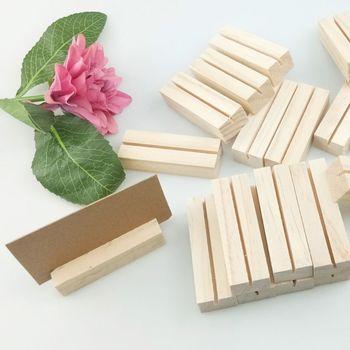 20 sztuk naturalne drewno nazwa klipsy na notatki ramka na fotografię zacisk biznes stojak na karty pulpit wiadomość organizator tanie i dobre opinie CN (pochodzenie) Drewna