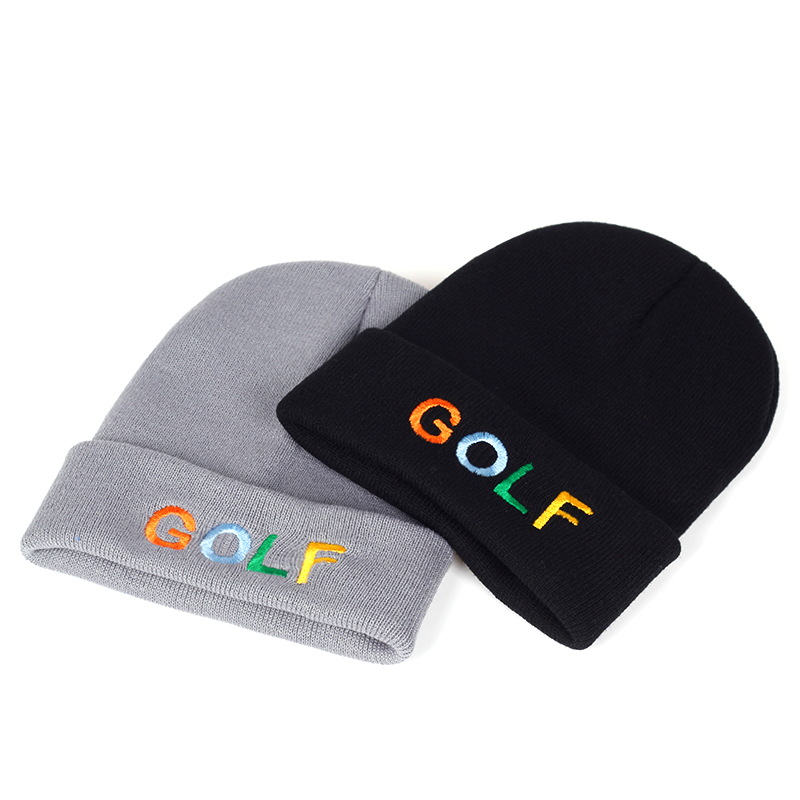 2019 New GOLF Embroidery Wool Hat Fashion New Outdoor Windproof Warm Hats Autumn And Winter Unisex Wool Cap Wild Caps