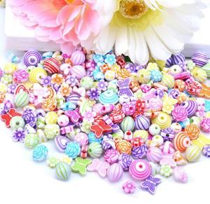Image 4 - 500g Jewelry Necklace Bracelet Handmade String Bead DIY Girl Ornaments Educational Toy Children Toys