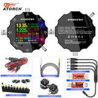 DC5.5 USB 3.0 Type-C 18 in 1 USB tester DC digital voltmeter power bank charger voltage current ammeter detector QC/PD3.0 meter
