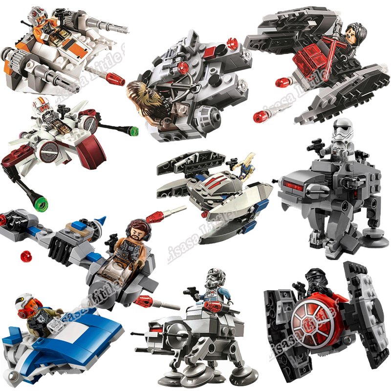 Star Wars Spaceship Microfighters Millennium AT-ST Fighters Building Blocks