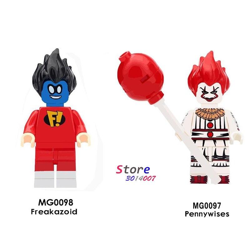 Single Super Hero Freakazoid The Clown Pennywise Little Devil Halloween Horror Theme Building Block Toys For Children