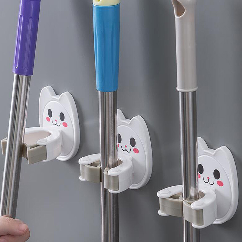 1PCS Mop Stents Sticky Wall Hung From A Broom Hook Tools Kitchen Bathroom Wall Shelf Hook Receive A Case