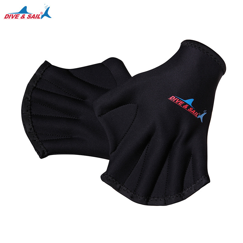 1 Pair Men Women 2MM Neoprene Diving Gloves Snorkeling Dive Swimming Paddles Palm Webbed  Scratch-resistant Hand Guard Equipment