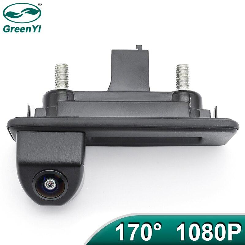 Greenyi 170 graus 1920x1080 p veículo câmera de visão traseira para skoda roomster fabia octavia yeti rápido excelente para audi a1 a4l a3 carro