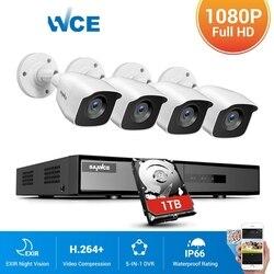 8CH 1080P DVR 1080P CCTV Системы 4 шт. 1080P 2.0MP камер видеонаблюдения ИК Открытый IP66 комплект видеонаблюдения обнаружения движения