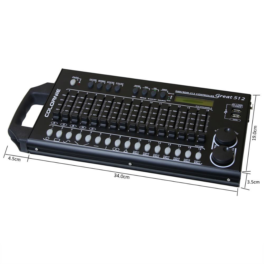 512 kanäle DMX & RDM Controller Bühnen Beleuchtung DMX Konsole Dmx512 Konsole Arbeit Mit USB Power Bank Für Bühne Licht DJ Ausrüstung - 3